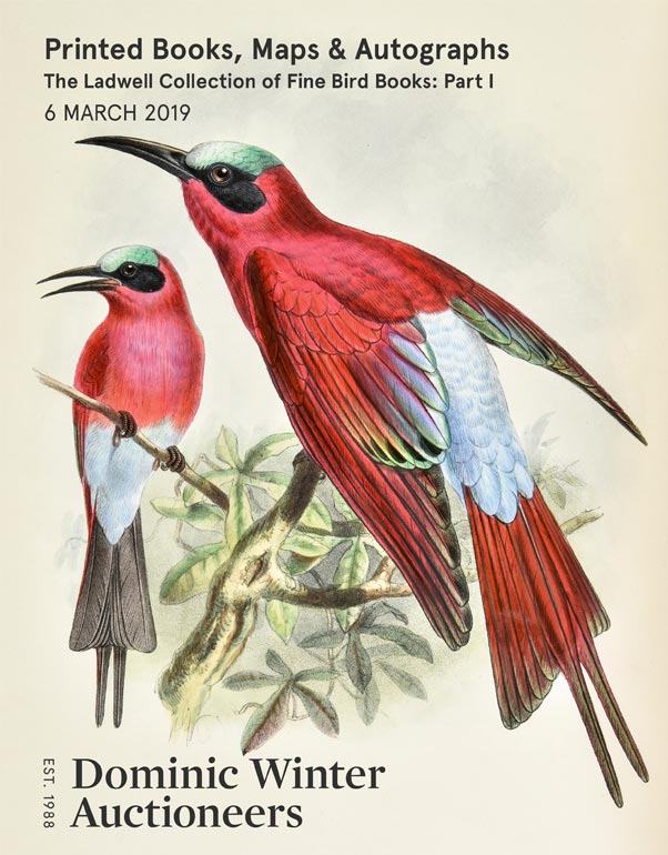 Printed Books, Maps & Autographs, including the Ladwell Collection of Fine Bird Books: Part I