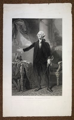 Lot 25-George Washington, engraved portrait, 1800