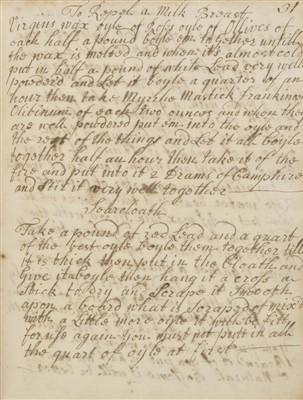 Lot 316 - Cookery Receipts.