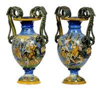 506 - Italian Maiolica Vases.