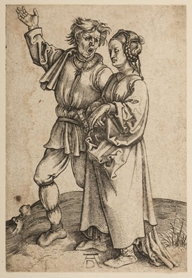 Lot 385-Durer, Albrecht, 1471-1528. The Peasant and his Wife (Rustic Couple), 1497