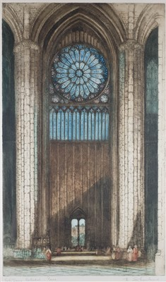 Lot 45-Sharland (Edward W., active 1911-1925). Notre Dame Cathedral & Rheims Cathedral