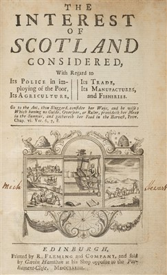 Lot 165 - Lindsay (Patrick). The Interest of Scotland Considered, 1733