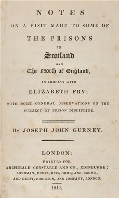 Lot 354 - Gurney (Joseph John). A Visit Made to Some of the Prisons in Scotland and the North of England, 1819