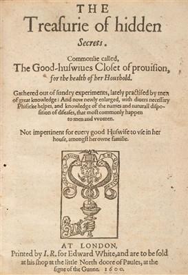 Lot 5 - Partridge (John). The Treasurie of Hidden Secrets, 1600