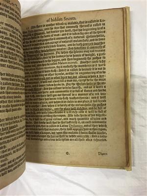 Lot 5-Partridge (John). The Treasurie of Hidden Secrets, 1600