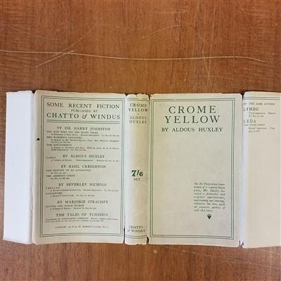 Lot 709-Huxley (Aldous). Crome Yellow, 1st edition, 1921