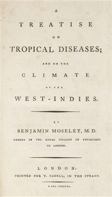 Lot 289 - Moseley (Benjamin). A Treatise of Tropical Diseases, 1787