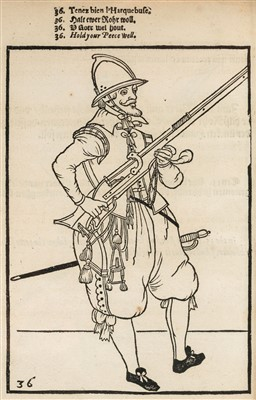 Lot 12-Gheyn (Jacob de). Maniement d'Armes d'Arquebuses, Mousquets, et Picques, [1620]