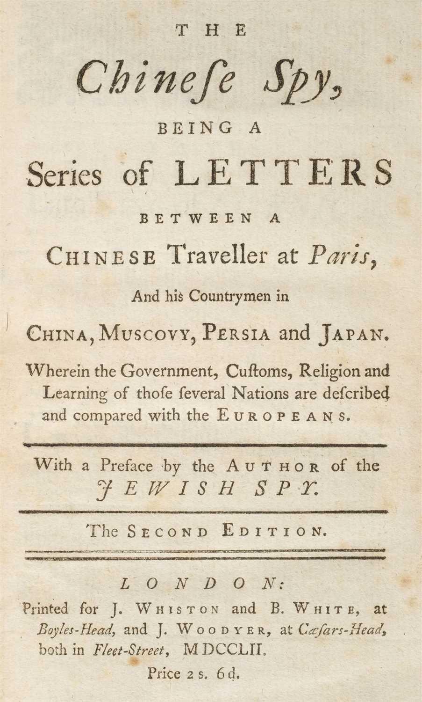 Lot 207 - Argens (Jean-Baptiste de Boyer, Marquis de). The Chinese Spy, 1752
