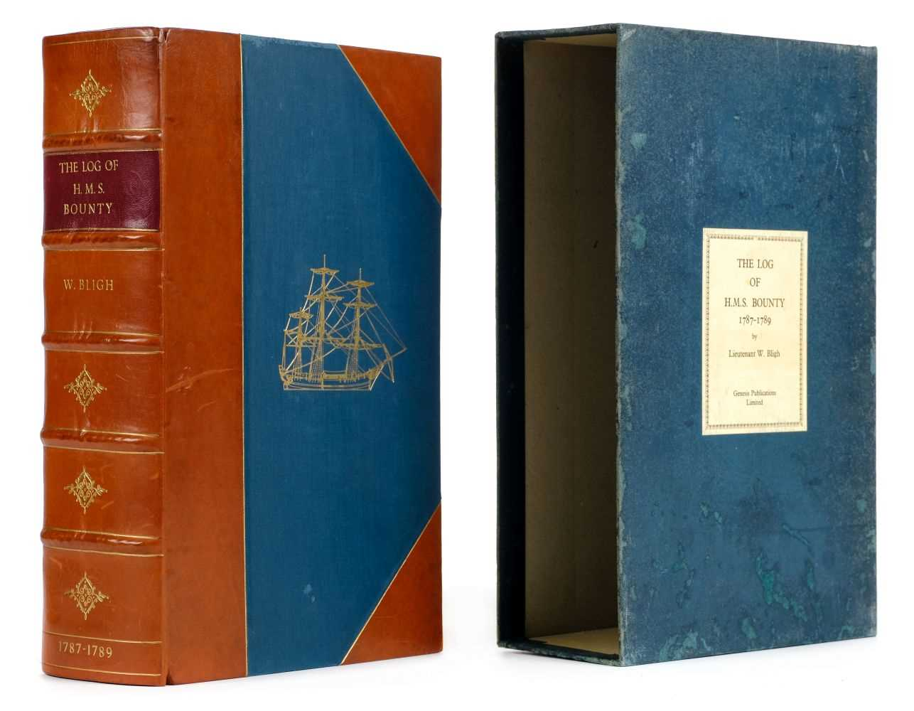 Lot 6-Bligh (William). The Log of H.M.S. Bounty, Genesis Publications, 1975