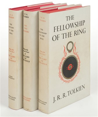 Lot 751-Tolkien (J.R.R.). Lord of the Rings, 1956-57, signed by the author