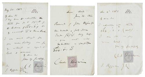 138 - Darwin (Charles Robert, 1809-1882).
