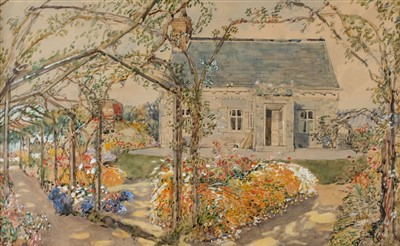 Lot 436 - Domestic Architecture. A cottage and pergola, early 20th century