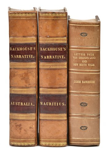 Lot 8-Backhouse (James). A Narrative of a Visit to the Australian Colonies, 1st edition, 1843
