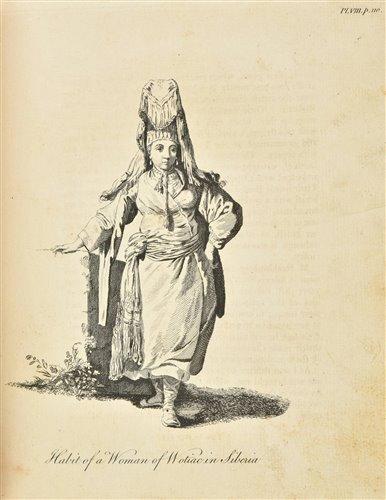 Lot 26-Chappe d'Auteroche (Jean-Baptiste). A Journey into Siberia, 1st edition in English, 1770