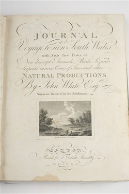 Lot 35-White (John). Journal of a Voyage to New South Wales, 1st edition, 1790