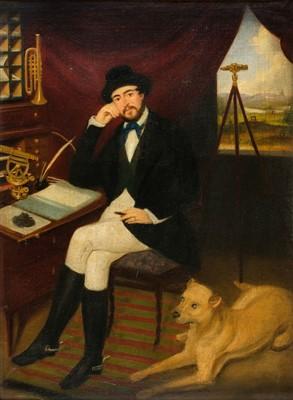 Lot 430 - English School. Portrait of Kirwan Joseph Fernie, mid 19th century