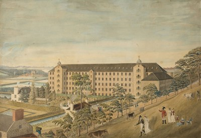 Lot 413 - Naive School. Woodside Cotton Mill, Old Aberdeen, circa 1800