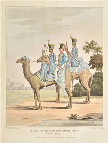 Lot 38-Fitzclarence (George Augustus, Earl of Munster). Journal of a Route across India, 1st edition, 1819
