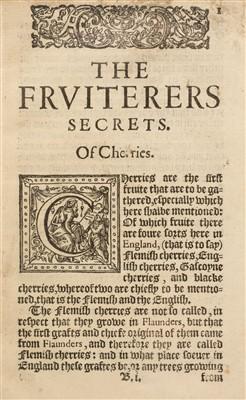 Lot 8-'N. F.' The Husbandmans fruitfull Orchard, 1609