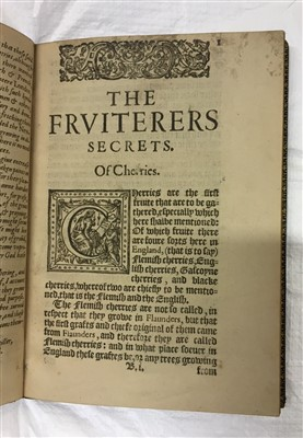 Lot 8-'N. F.' The Husbandmans fruitfull Orchard, 1609