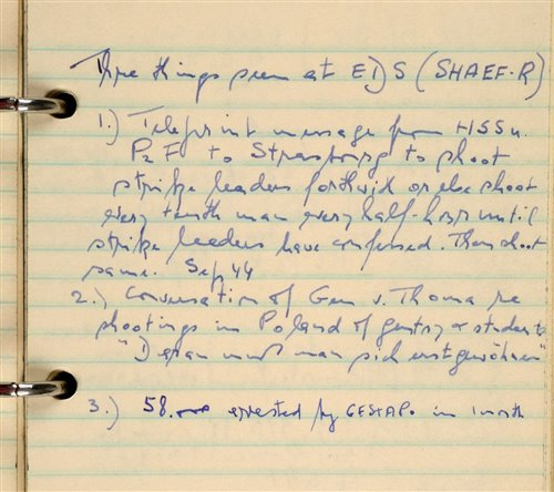 Lot 47-D-Day Intelligence Notebook.