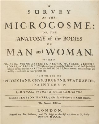 Lot 120 - Remmelin (Johann, & Michael Spaher of Tyrol). A Survey of the Microcosme, 1702