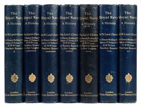Lot 38-Field (Cyril, & Herbert Edward Blumberg). Britain's Sea Soldiers, 4 volumes, 1st edition, 1924-7