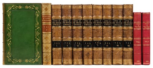 Lot 33-Campbell (John). Lives of the British Admirals, 8 volumes, 1817