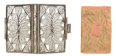 Lot 295 - Silver Filigree Binding. London Almanack, 1789