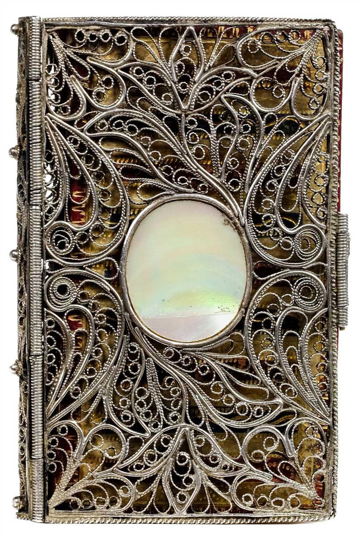 Lot 307 - Silver Filigree Binding. London Almanack, 1792