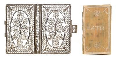 Lot 252 - Silver Filigree Binding. London Almanack, 1769