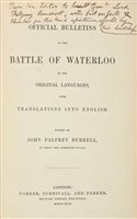 Lot 27-Waterloo. An Account of the Battle of Waterloo, 1815