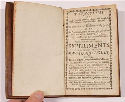 Lot 22-Paracelsus. Chymical Transmutation, 1657