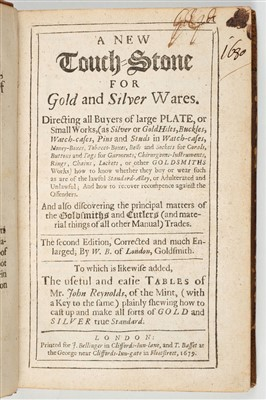 Lot 61-Badcock (William). Touch-stone for Gold & Silver Wares, 1679