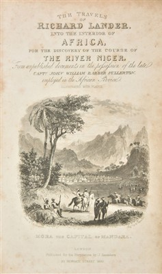 Lot 18-Huish (Robert). The Travels of Richard and John Lander, 1836