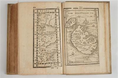 Lot 17-Honter (Johannes, & others). De Cosmographiae rudimentis, Basel, 1585