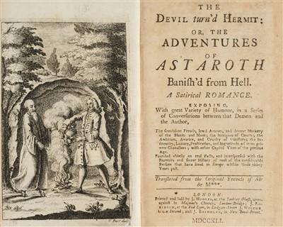 Lot 184 - Lambert de Saumery (Pierre). The Devil turn'd Hermit, 2 volumes, 1st edition in English, 1741-2