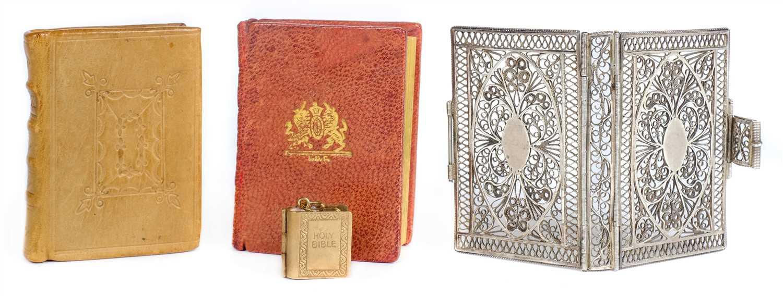 Lot 327 - Silver Filigree Binding. An empty silver miniature binding, early 19th century