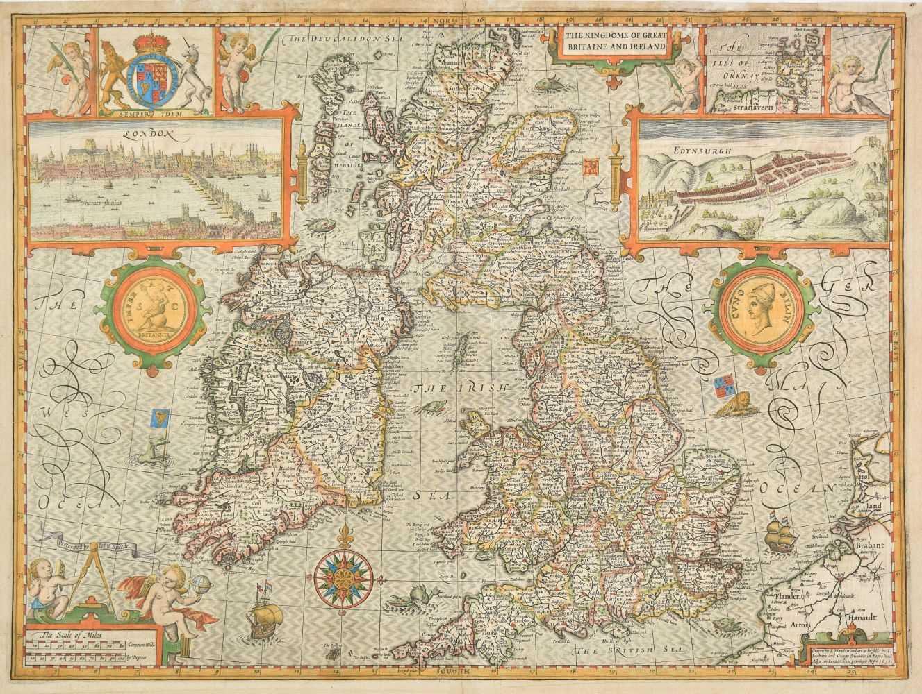 John Speed Map Of Ireland.Lot 154 British Isles John Speed 1627