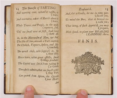 Lot 150-Swift (Jonathan, attributed). The Benefit of Farting, 1722