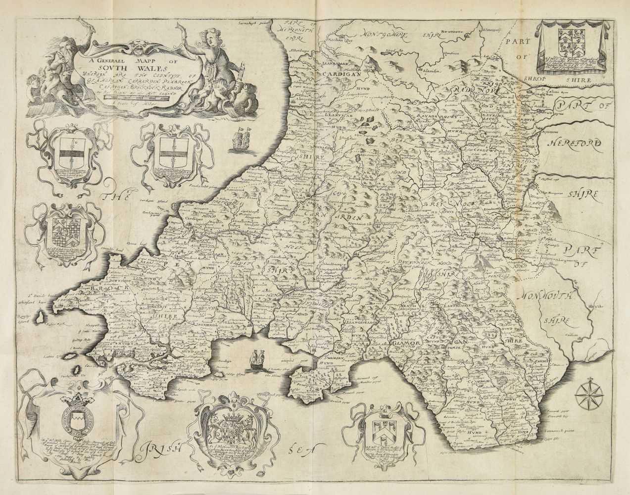 Lot 40-Blome (Richard). Britannia, 1673