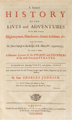Lot 175-Johnson (Charles). The Lives and Adventures of the Most Famous Highwaymen..., 1736