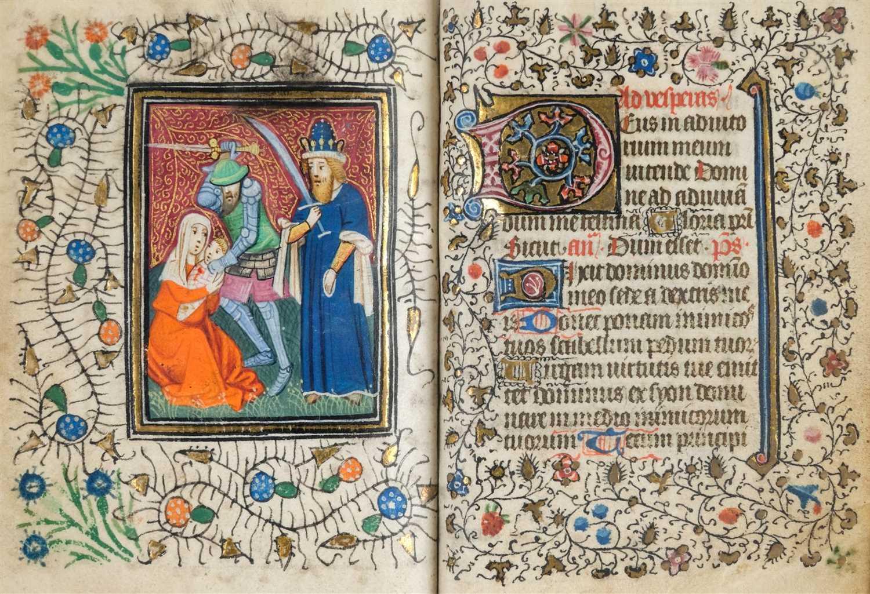 Lot 1 - Book of Hours (Use of Rome). Illuminated manuscript, circa 1450