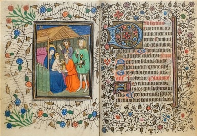 Lot 1-Book of Hours (Use of Rome). Illuminated manuscript, circa 1450