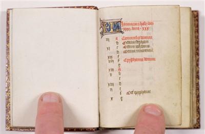 Lot 1-Book of Hours (Use of Rome). Illuminated manuscript, circa 1450