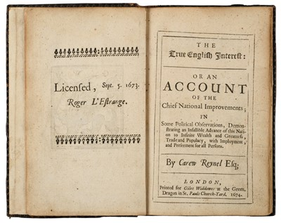 Lot 48-Reynell (Carew). The True English Interest, 1st edition, 1674