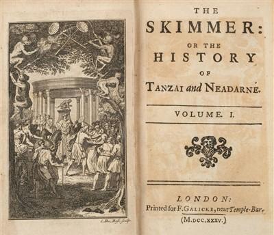 Lot 171 - Crébillon (Claude-Prosper Jolyot de). The Skimmer, 1st edition in English, 1735