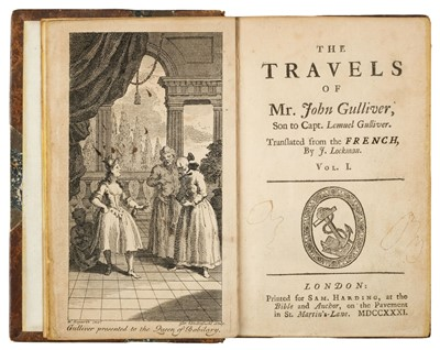 Lot 163 - Desfontaines (Pierre-Francois Guyot). The Travels of Mr. John Gulliver, 1731